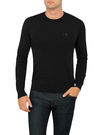 Crew Neck Plain Knit