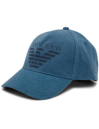 Baseball Cap With Big Eagle Motif