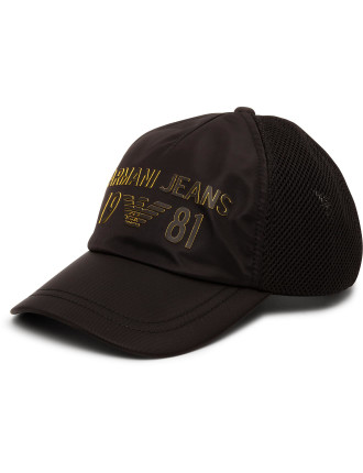 Baseball Cap With Yellow Font