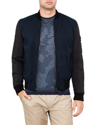 Bomber With Contrast Sleeves