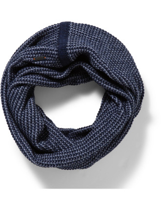 Blk Twisted Knit Scarf