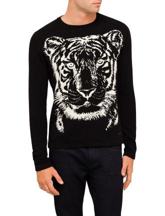 Tiger Print Jumper