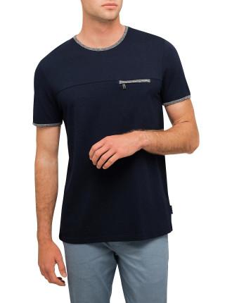 Tee With Zip Pocket