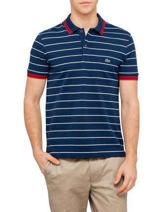 Pique Jersey Stripe Polo