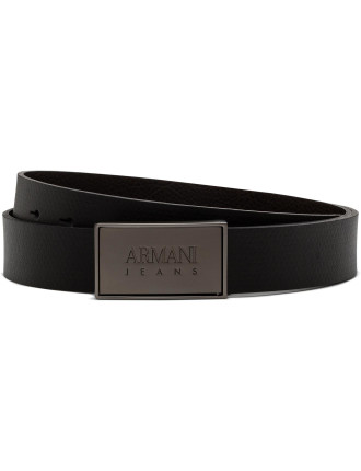Metal Front Armani Logo Belt