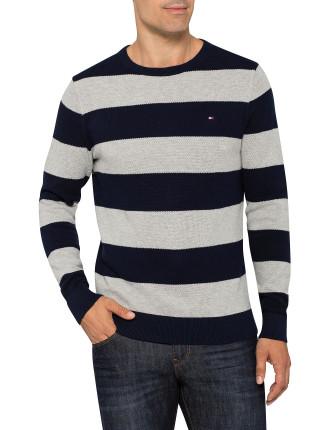 Block Stripe Crew Neck Knit
