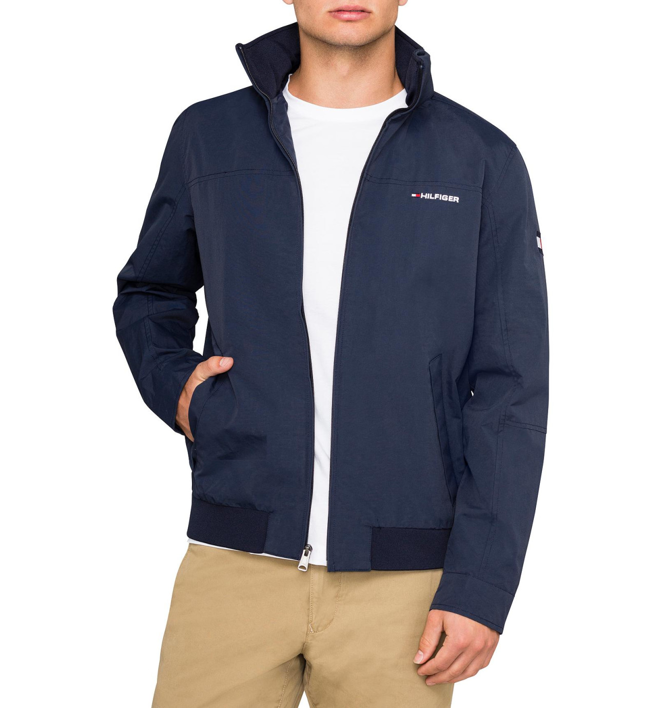 tommy hilfiger yachting jacke bergangsjacke windbreaker dunkelblau gr e l. Black Bedroom Furniture Sets. Home Design Ideas