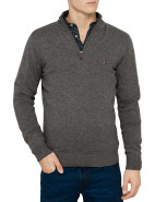 Lambswool Zip Mock Neck Knit $199.00