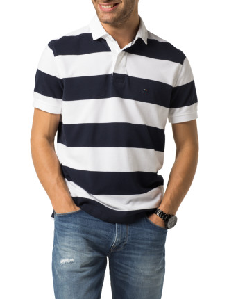 Ezra Block Strip Polo