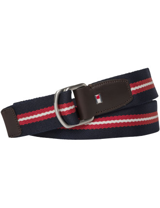 Th Stripe Webbing Belt