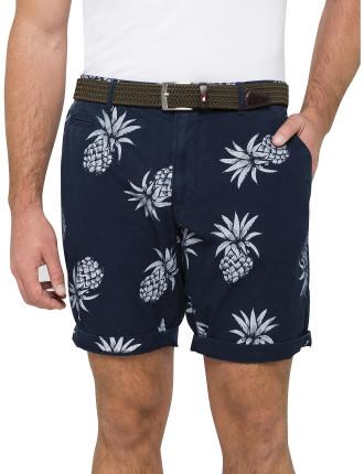 Brooklyn Short Pineapple Print