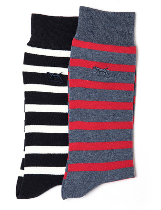 Andrews Avenue Two Pack Sock Marine