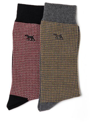 Olivers Place Two Pack Sock Multi