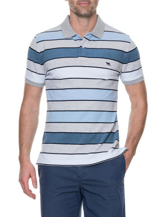 Bay View Sports Fit Polo Azure