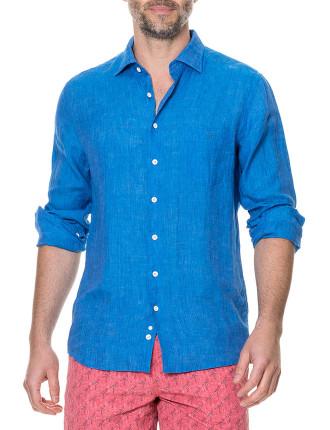 Harris Bay Long Sleeve Sports Fit Shirt Lagoon