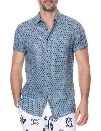 York Bay Short Sleeve Sports Fit Shirt Stonewash