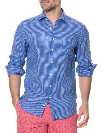 Warwick Junction Long Sleeve Sports Fit Shirt Ultramarine