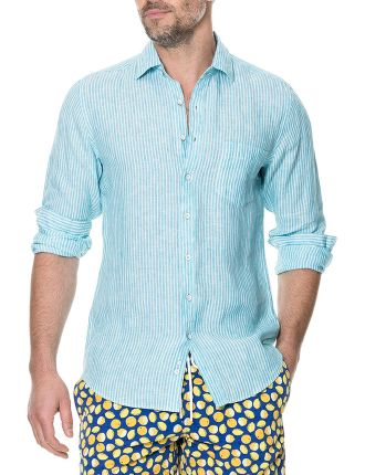 Warwick Junction Long Sleeve Sports Fit Shirt Teal