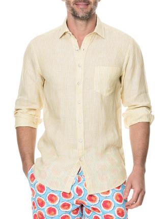 Warwick Junction Long Sleeve Sports Fit Shirt Lemon