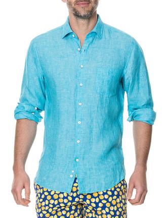 Harris Bay Long Sleeve Sports Fit Shirt Teal