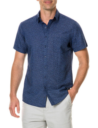 Windermere Short Sleeve Sports Fit Shirt Indigo