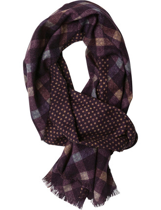 ZQ0170 RECREATION ROAD SCARF/BORDEAUX
