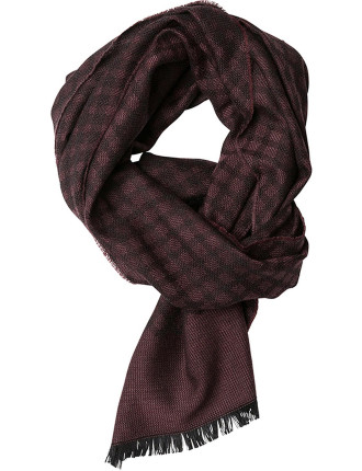 ZQ0174 CARR CRESCENT SCARF/SYRAH