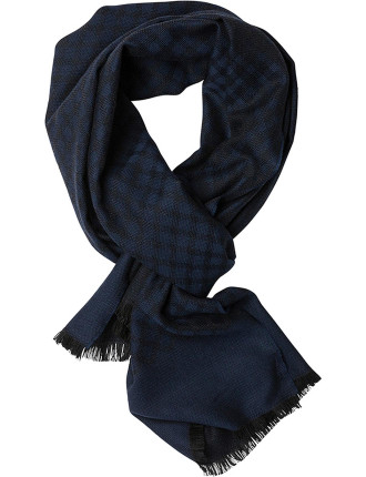 ZQ0174 CARR CRESCENT SCARF/OCEAN