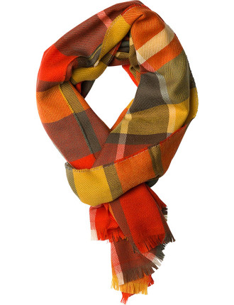 ZQ0175 GOLDFINCH STREET SCARF/FIRE