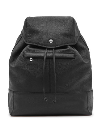 Bash Grained Leather Backpack