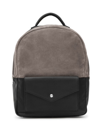 Bolton Suede And Leather Backpack