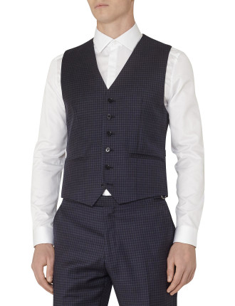 Marvel W Checked Wool Waistcoat