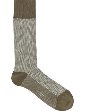 Pheonix Herringbone Patterned Socks