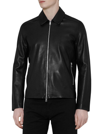 Dylon Collared Leather Jacket