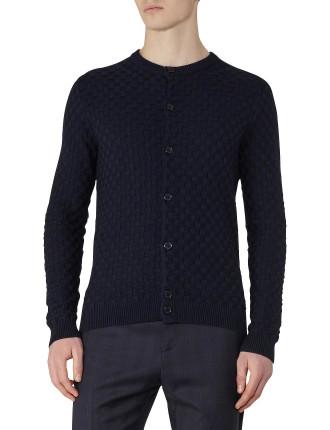 Thompson Textured Cotton Cardigan