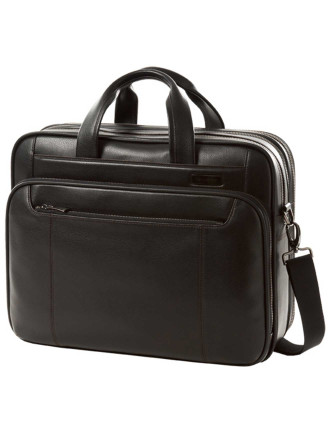 Savio Leather Laptop Briefcase Large
