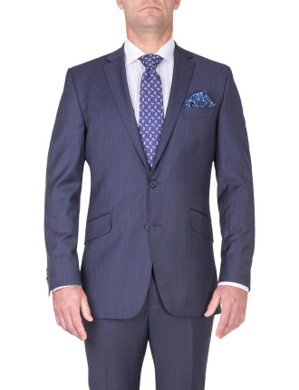 BONDI SUIT | NAVY SHADOW STRIPE