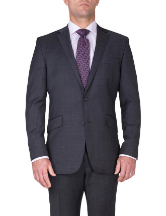 BONDI SUIT | DARK GREY W FINE PINHEAD CHECK