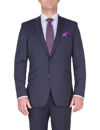 BONDI SUIT | NAVY W SUBTLE TONAL CHECK