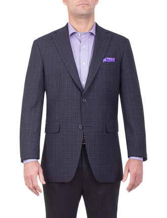 CASPER SPORT COAT | DARK NAVY CHECK