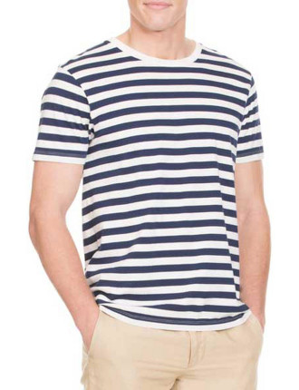 Navy Thick Stripe T-Shirt