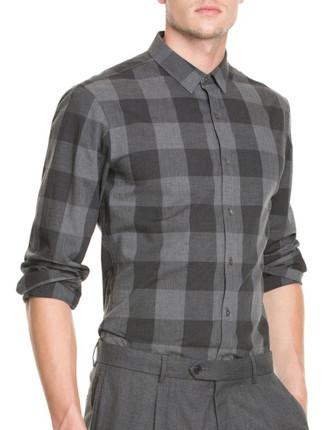 Slim Check Flannel Shirt