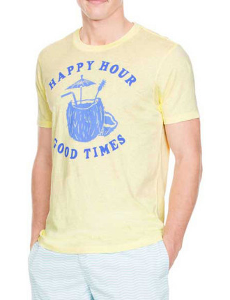 Yellow Happy Hour Graphic T-Shirt