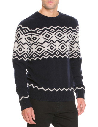Placement Pattern Crew Knit