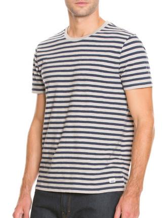 Short Sleeve Heather Stripe T-Shirt