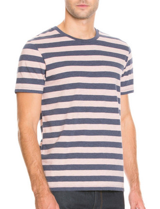 Short Sleeve Block Stripe T-Shirt