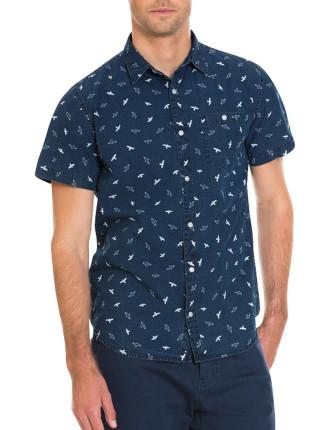 Indigo Short Sleeve Indigo Print Shirt