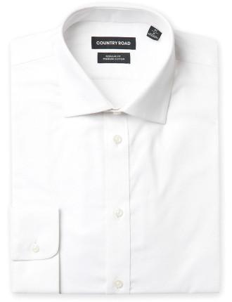 Regular Long Sleeve Textured Shirt
