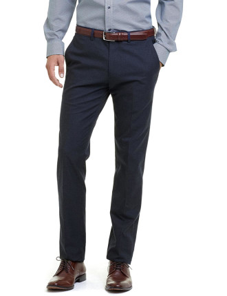 Slim Melange Cotton Pant