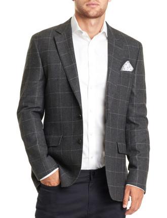 Slim Windowpane Tweed Jacket
